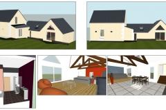 Extension pour liaison et réaménagement intérieur